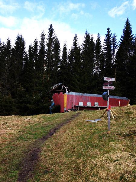 Dilapidated Norwegian farm house