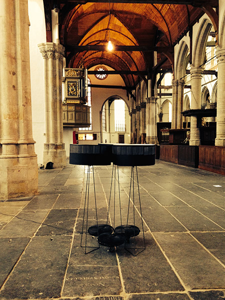 Three Zoetropes Installed at the Oude Kerk Amsterdam 2014